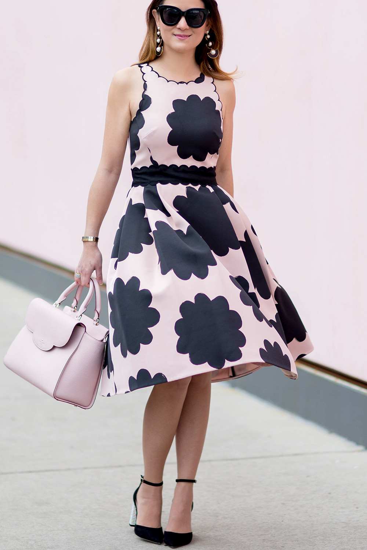 Kate Spade Pink Scallop Dress