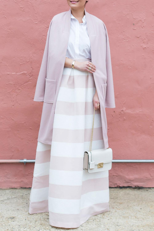 Long Pink Duster Coat