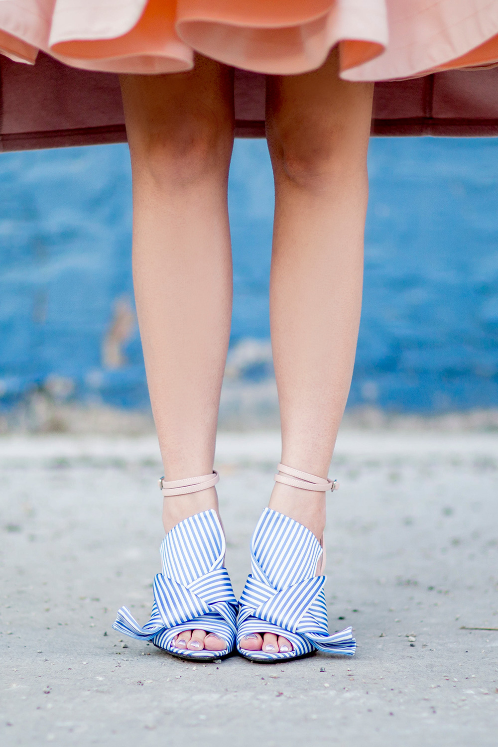 No 21 Knotted Striped Sandals