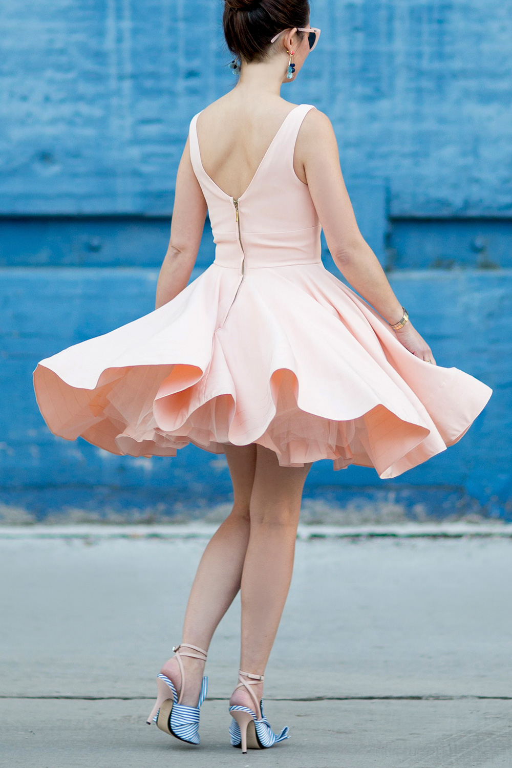 Twirling Pink Flare Dress
