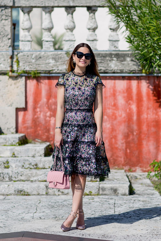 Alexis Peony Sequin Dress
