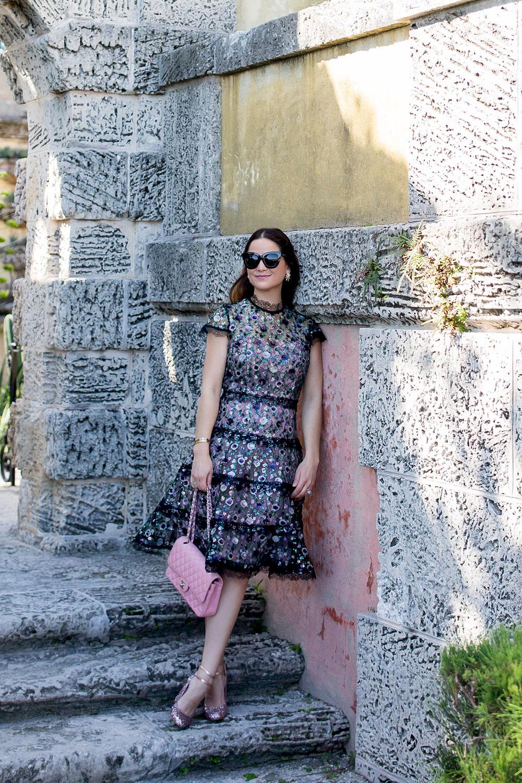 Alexis Floral Lace Dress