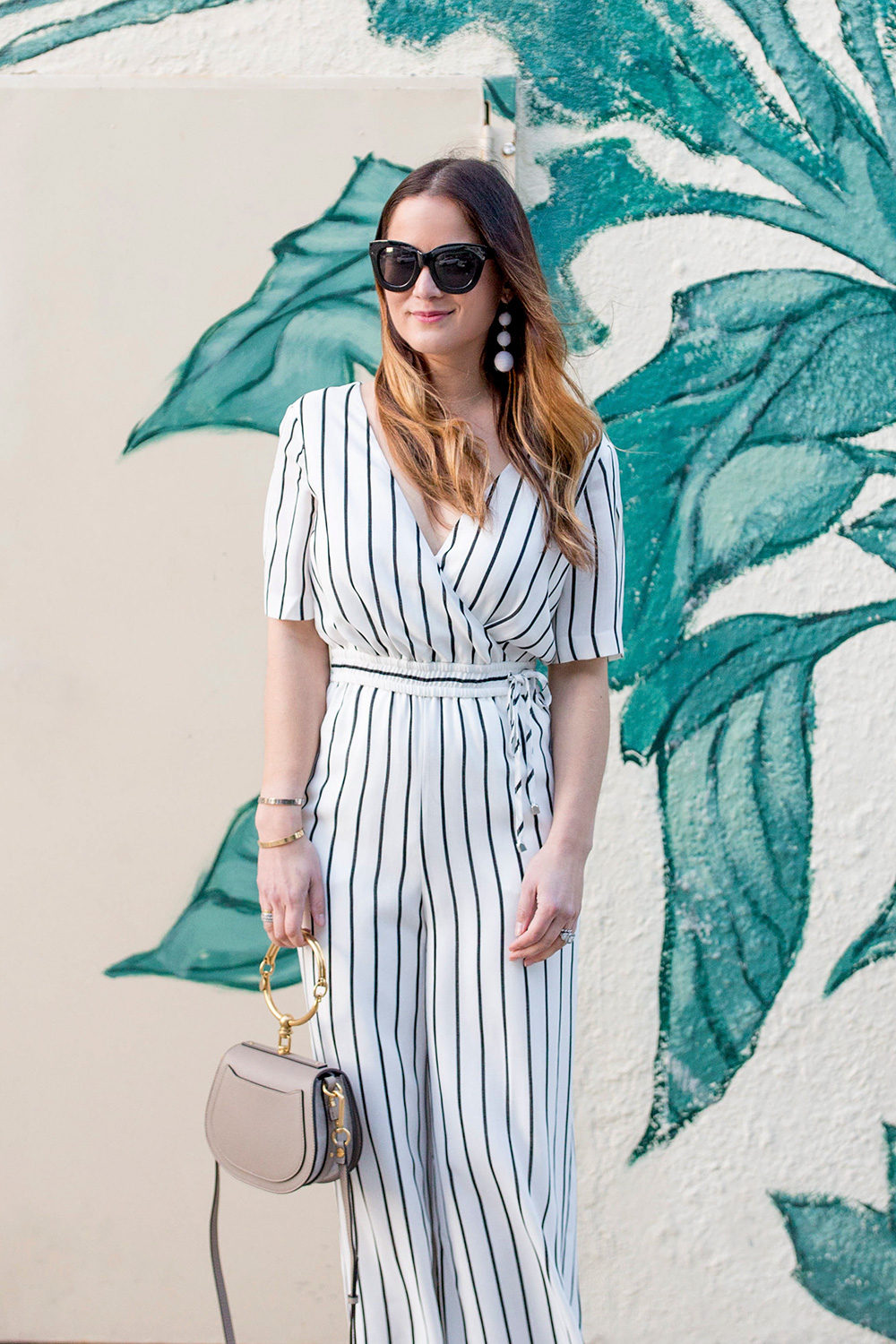 Ali and Jay Ivory Stripe Culotte Jumpsuit