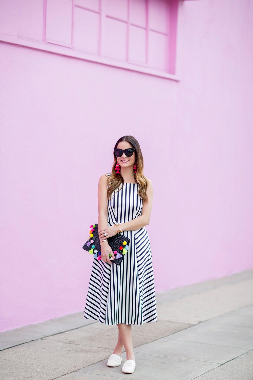 Black White Stripe Dress