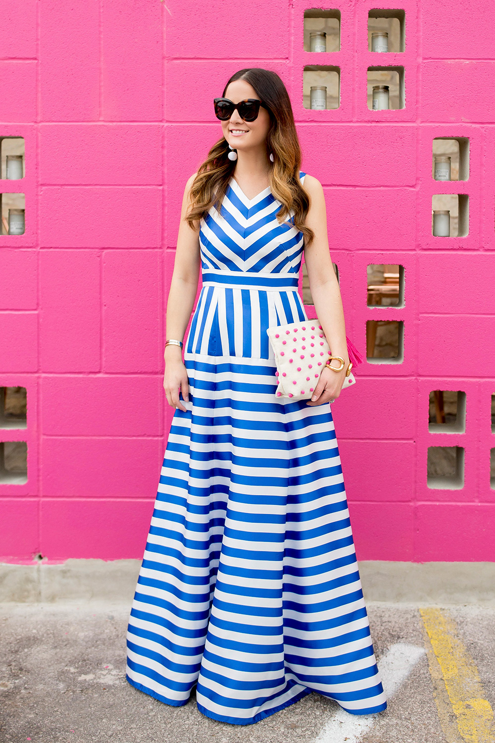 Blue and White Stripe Gown