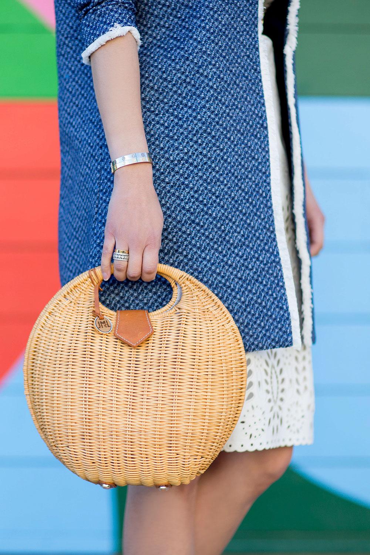 Circular Wicker Bag