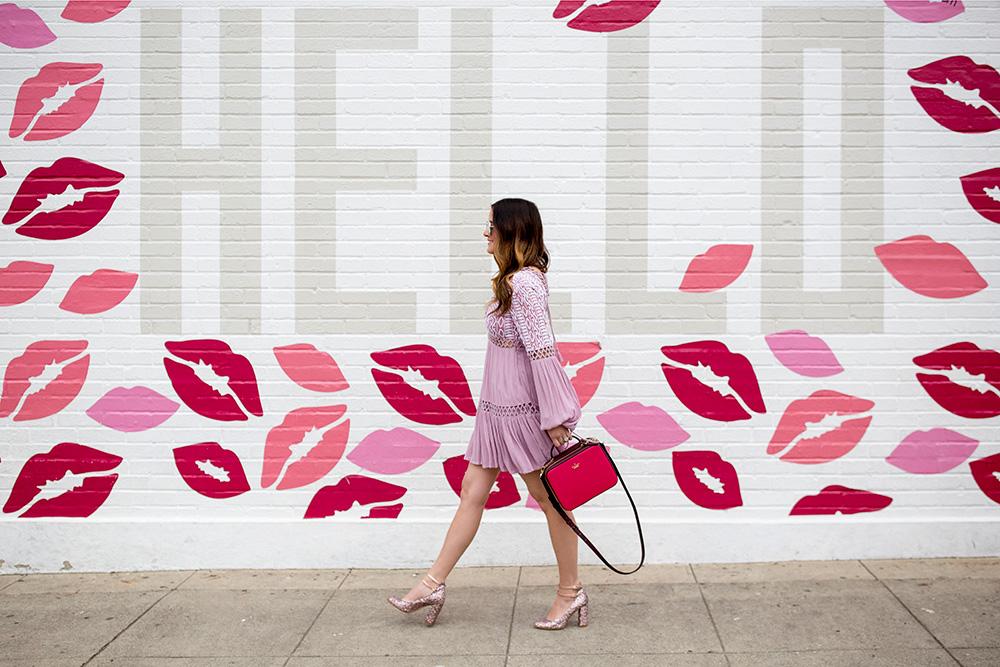Hello Lips Mural Los Angeles