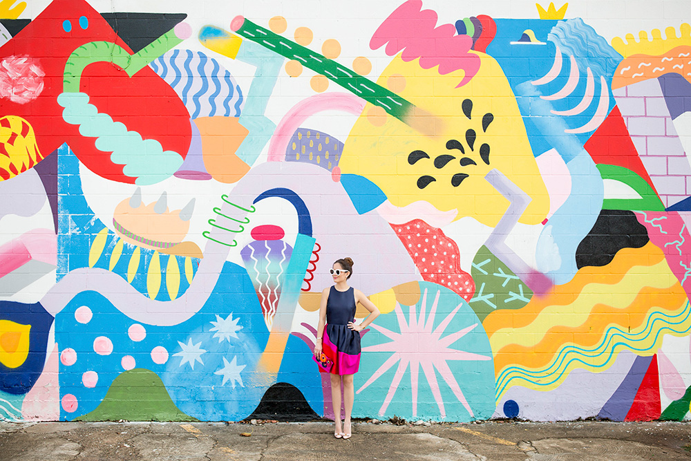Houston Colorful Mural Wall