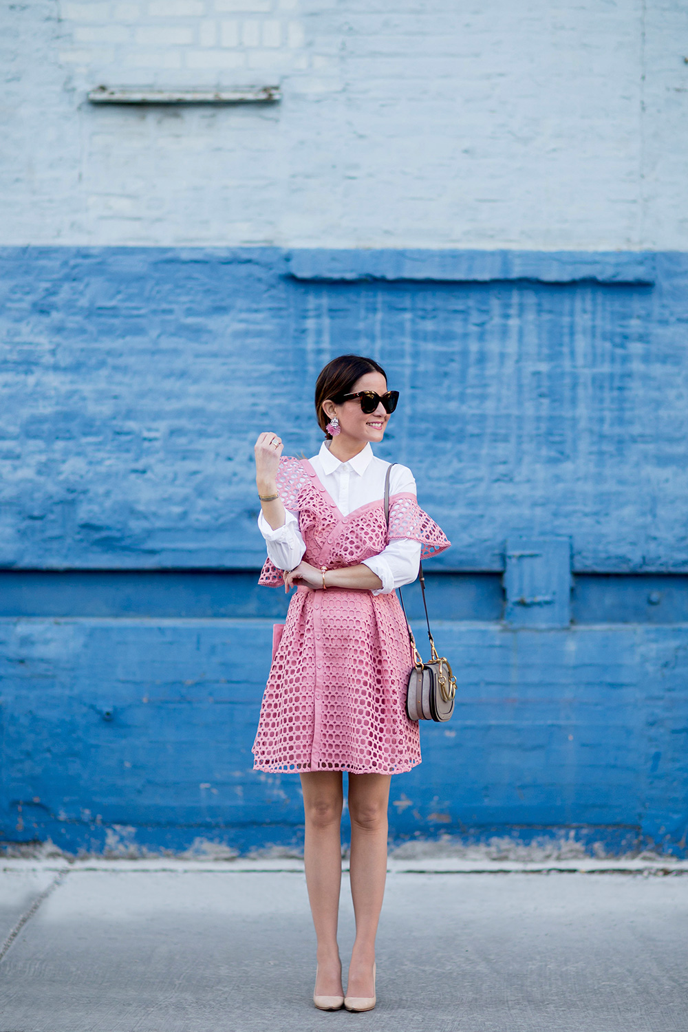 Layered Pink Spring Outfit
