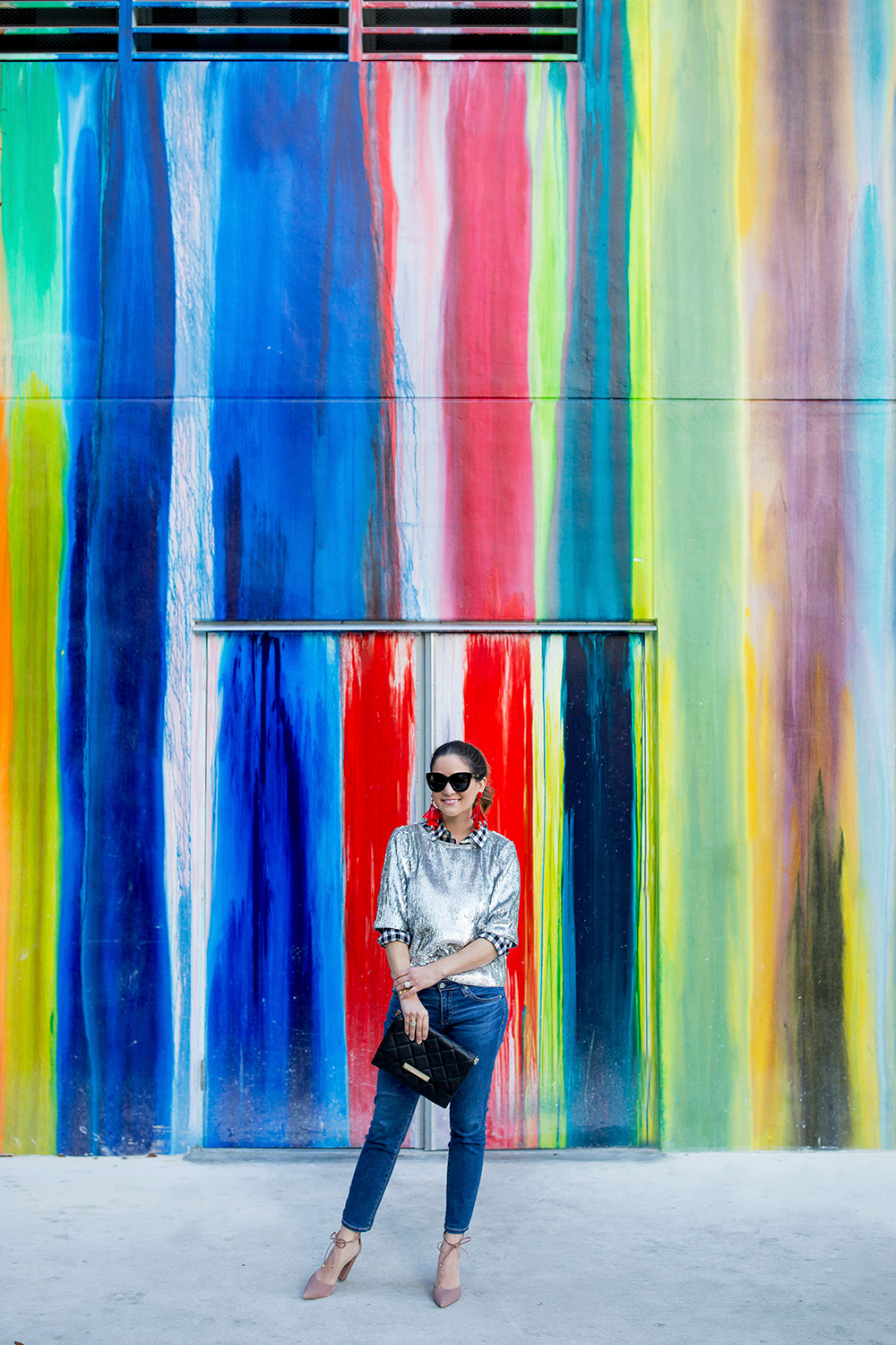 Miami Colorful Dripping Paint Mural