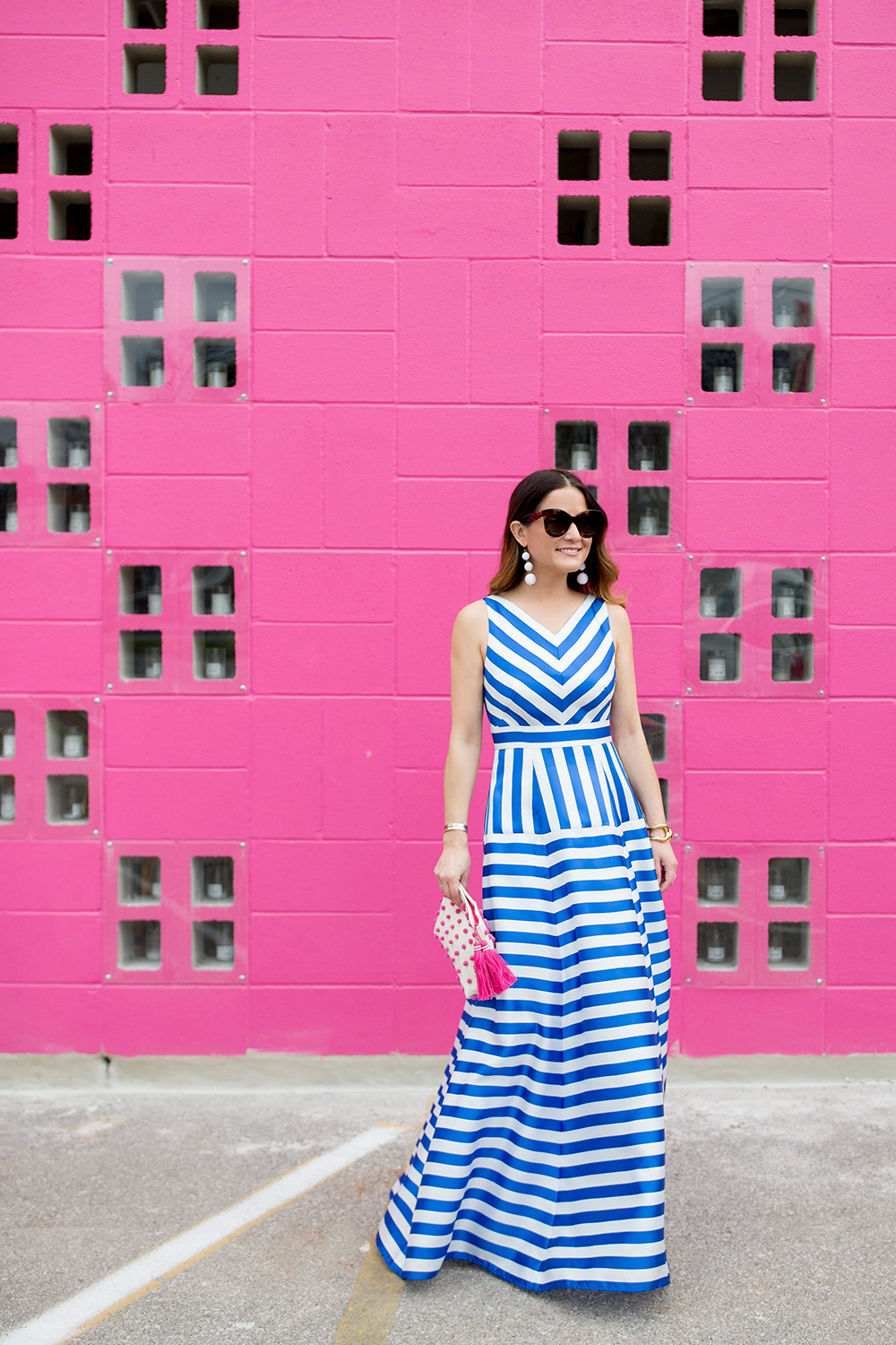 Nordstrom Blue Stripe Maxi Gown