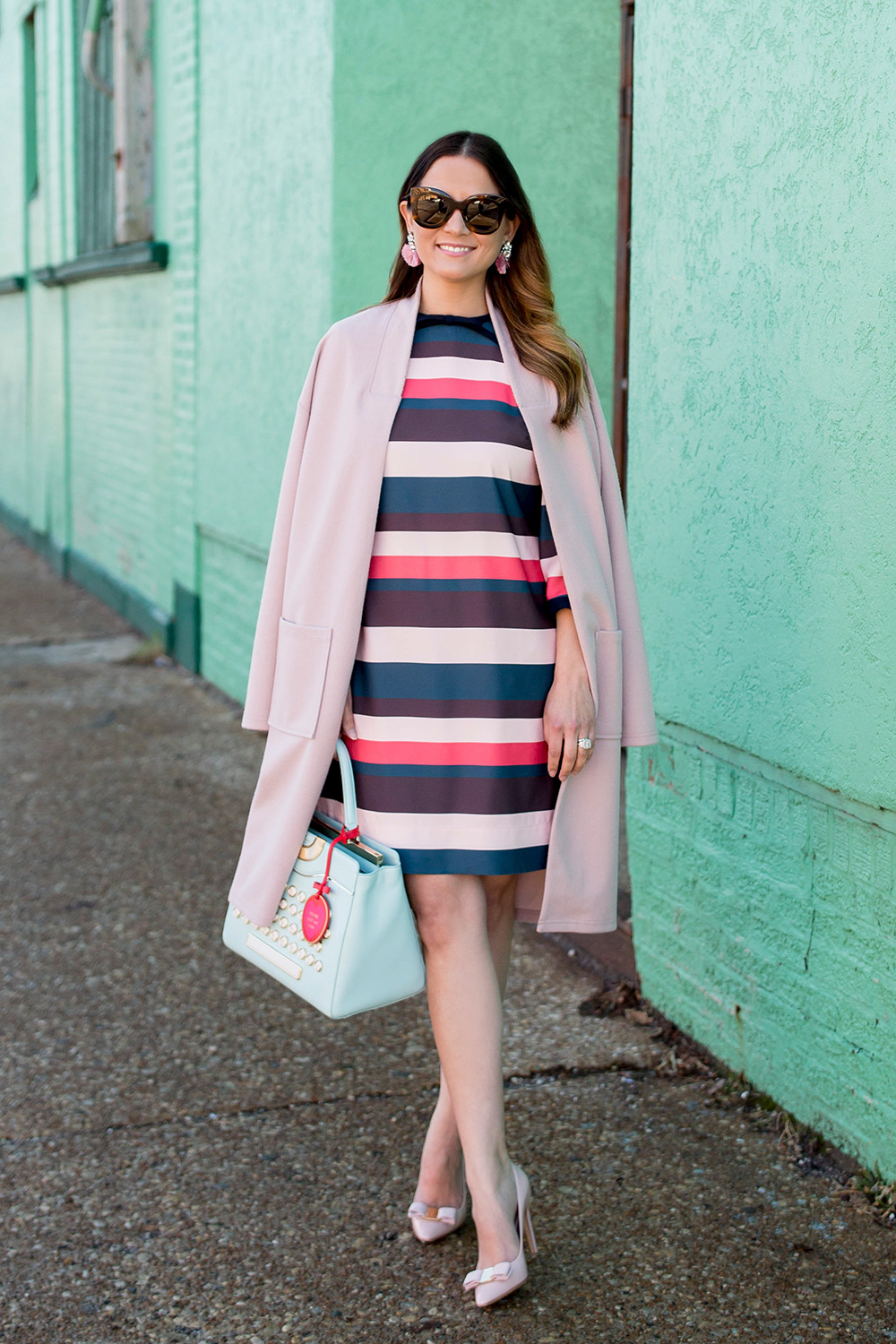Nordstrom Long Pink Sweater Coat