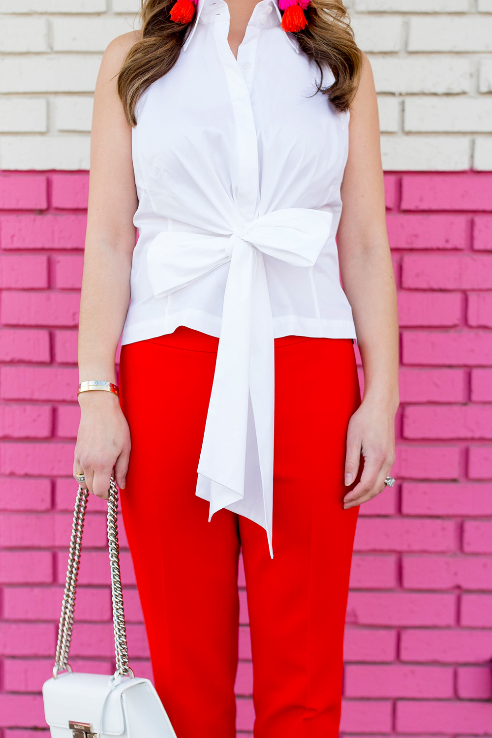 Tie Front Bow Blouse