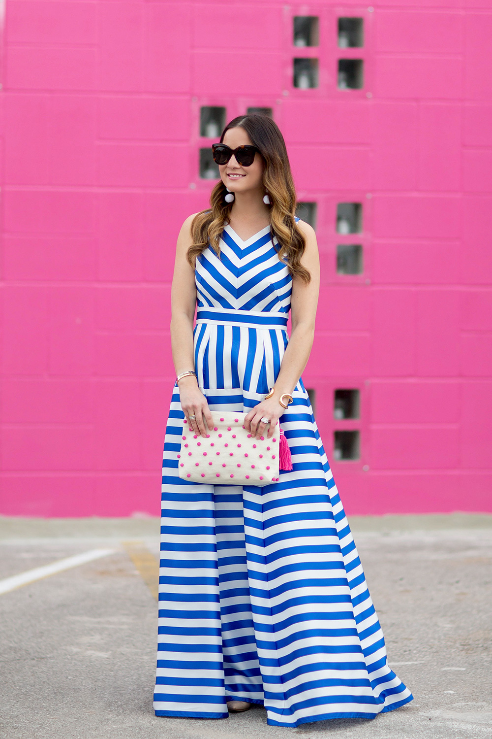 Image result for blue white stripe gown