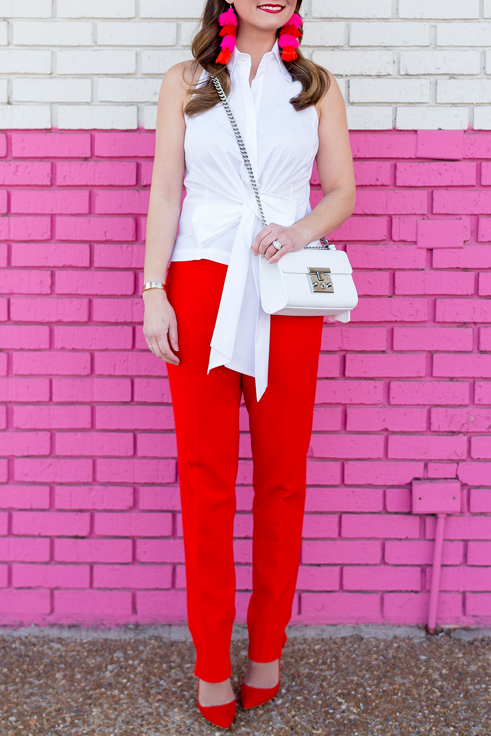 Worth New York Red White Outfit