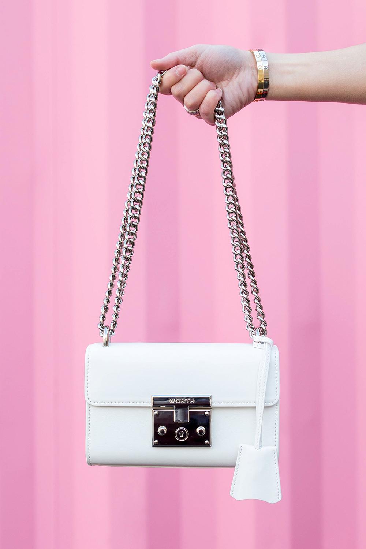 Worth New York White Chain Bag