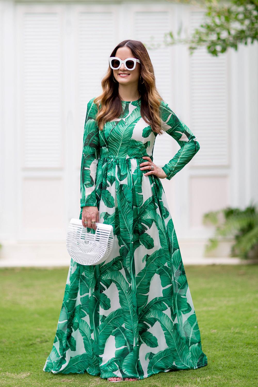 Banana Leaf Long Dress