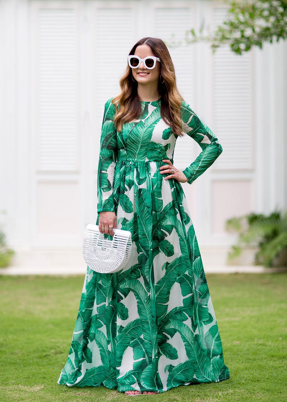 Banana Leaf Maxi Dress