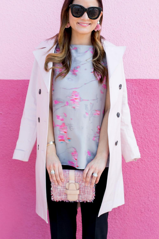 Banana Republic Pink Tweed Bag
