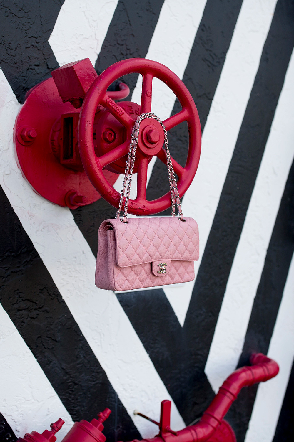 Chanel Pink Quilted Flap Bag