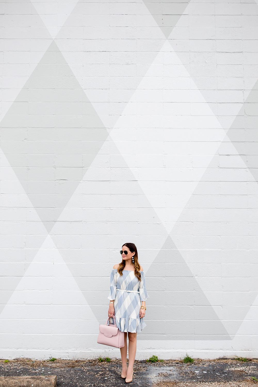 Grey Check Wall Austin
