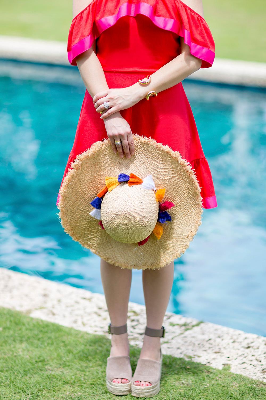 Kate Spade Multicolor Fringe Tassel Hat