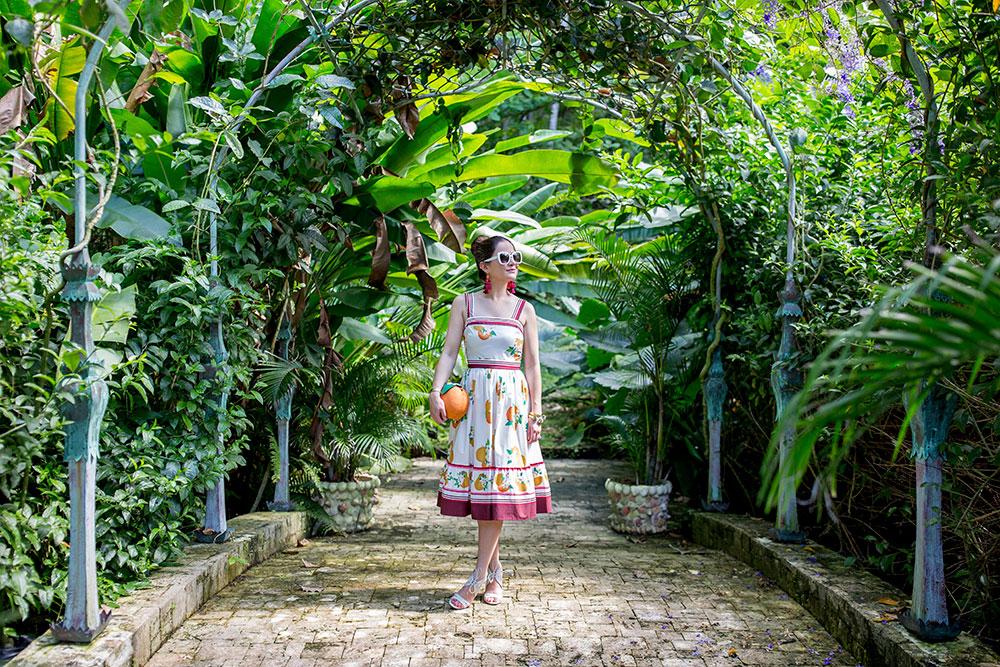 Kate Spade Orangerie Midi Dress