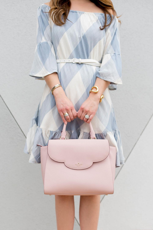 Kate Spade Pink Scallop Bag