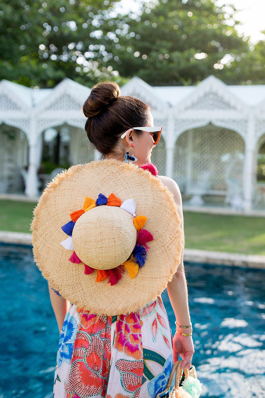 Kate Spade Tassel Backpack Sunhat