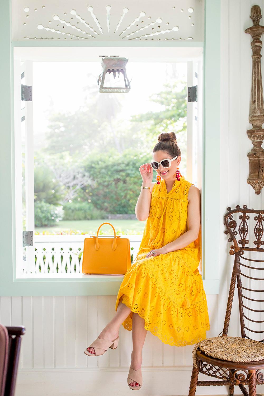 Kate Spade Yellow Eyelet Dress