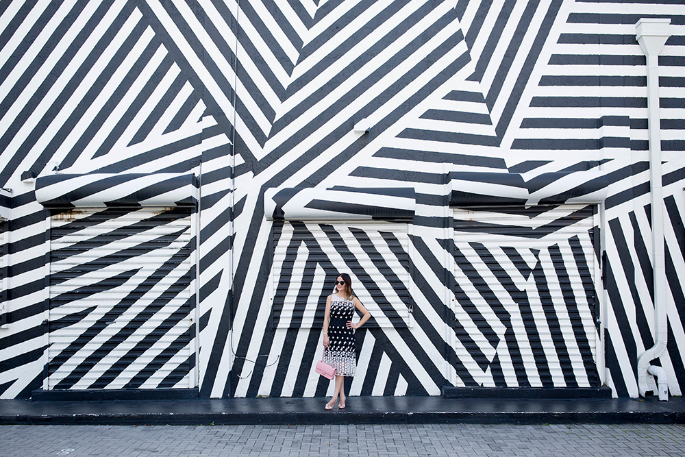 Miami Wynwood Walls Black White Mural