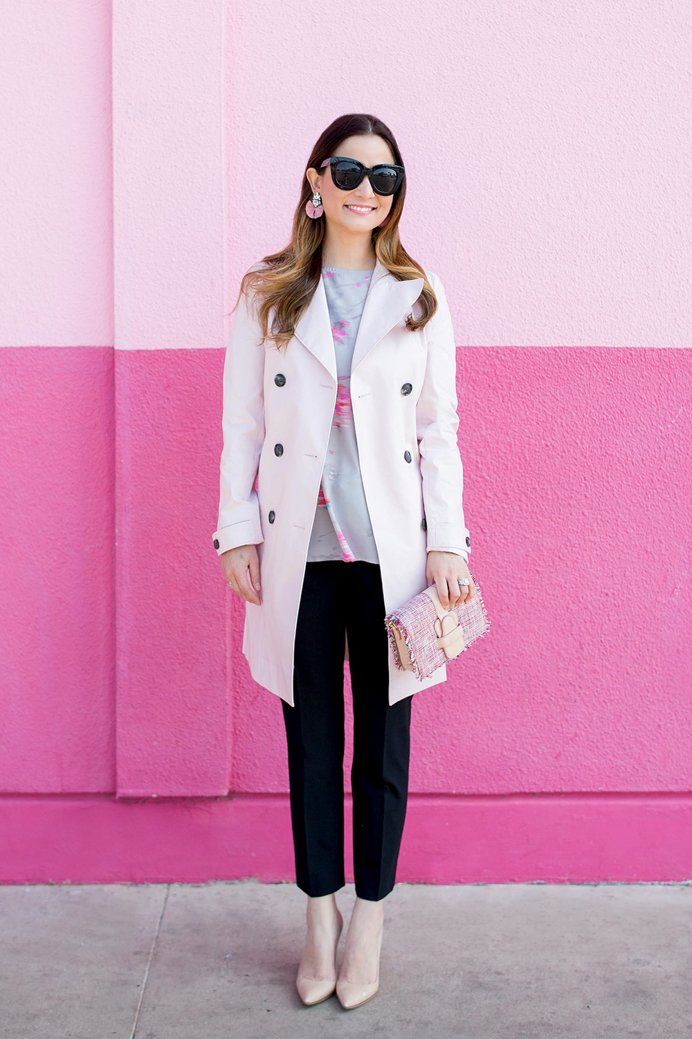 Pink Black Spring Outfit