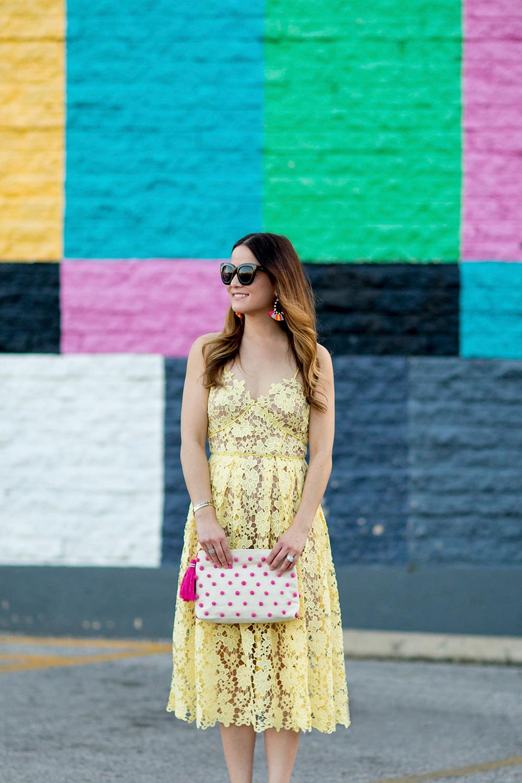 Spaghetti Strap Lace Midi Dress