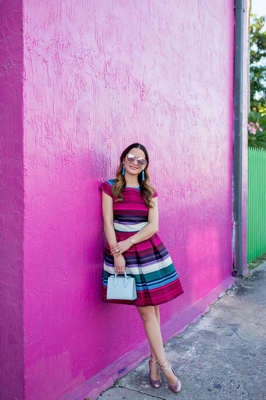 Ted Baker Pink Stripe Dress