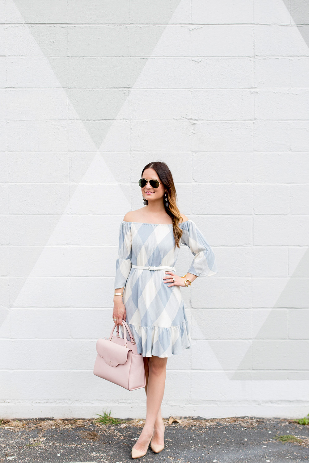 Tularosa Grey Check Dress