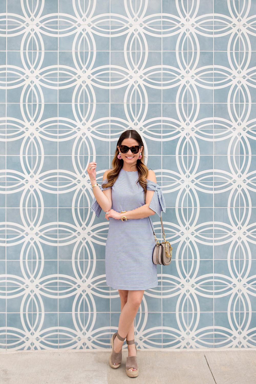 Blue Stripe Shift Dress