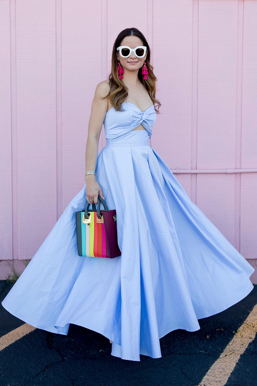Chambray Blue Full Skirt