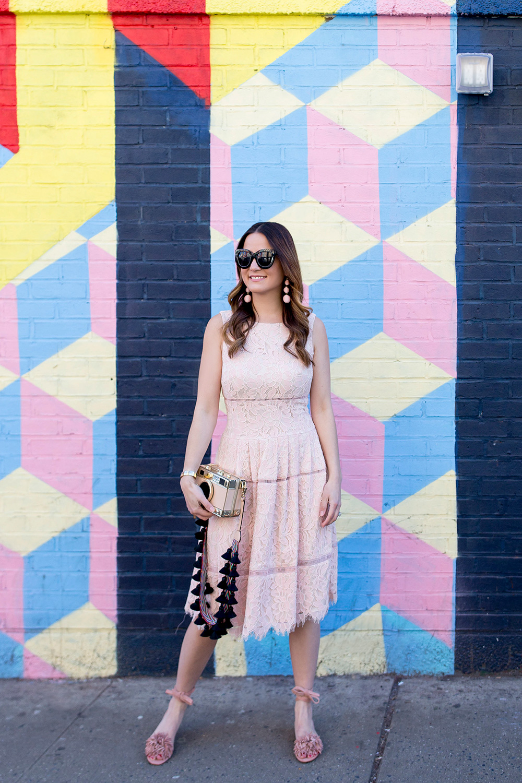 Eliza J Pink Lace Dress