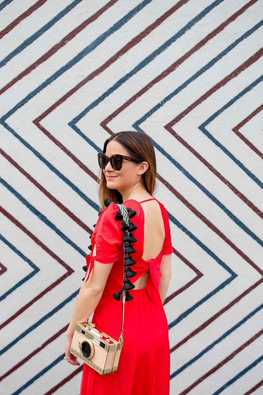 Express Karlie Kloss Red Dress