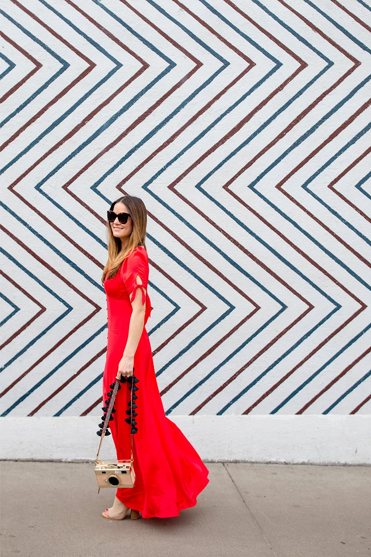 Express Long Red Dress