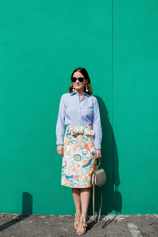 J. Crew Colorful Skirt