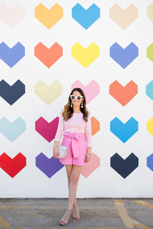 J Crew Pink Bow Shorts