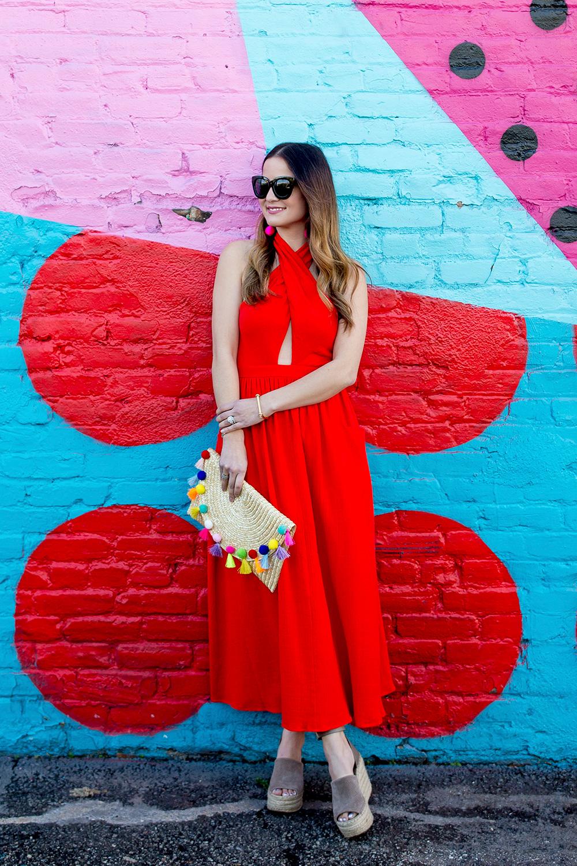 Mara Hoffman Red Dress