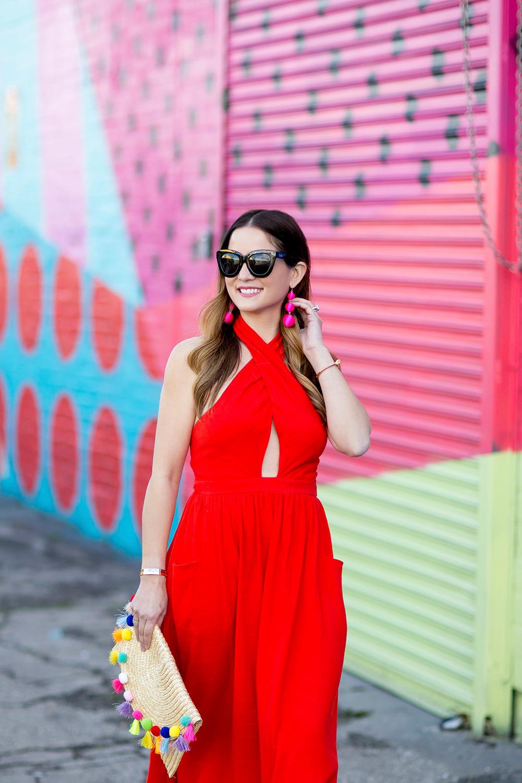 Mara Hoffman Red Midi Dress