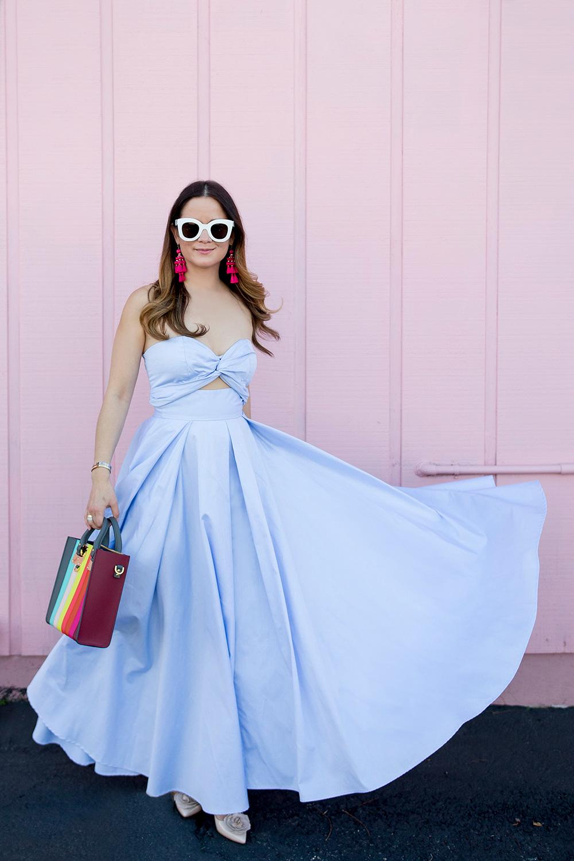 Petersyn Blue A Line Skirt