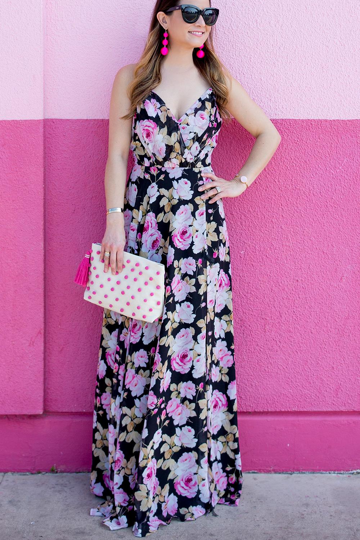 Pink Pompom Clutch