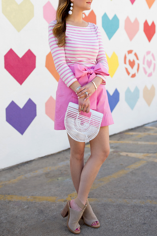 Pink Stripe Boatneck Shirt