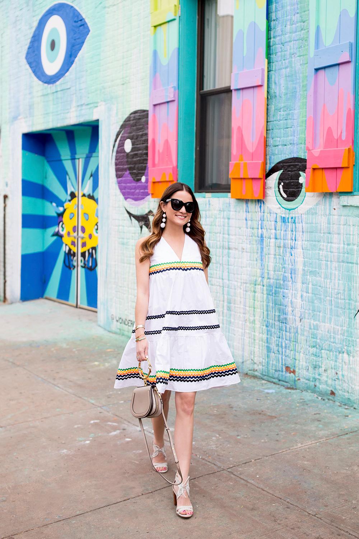 Anthropologie White Summer Dress