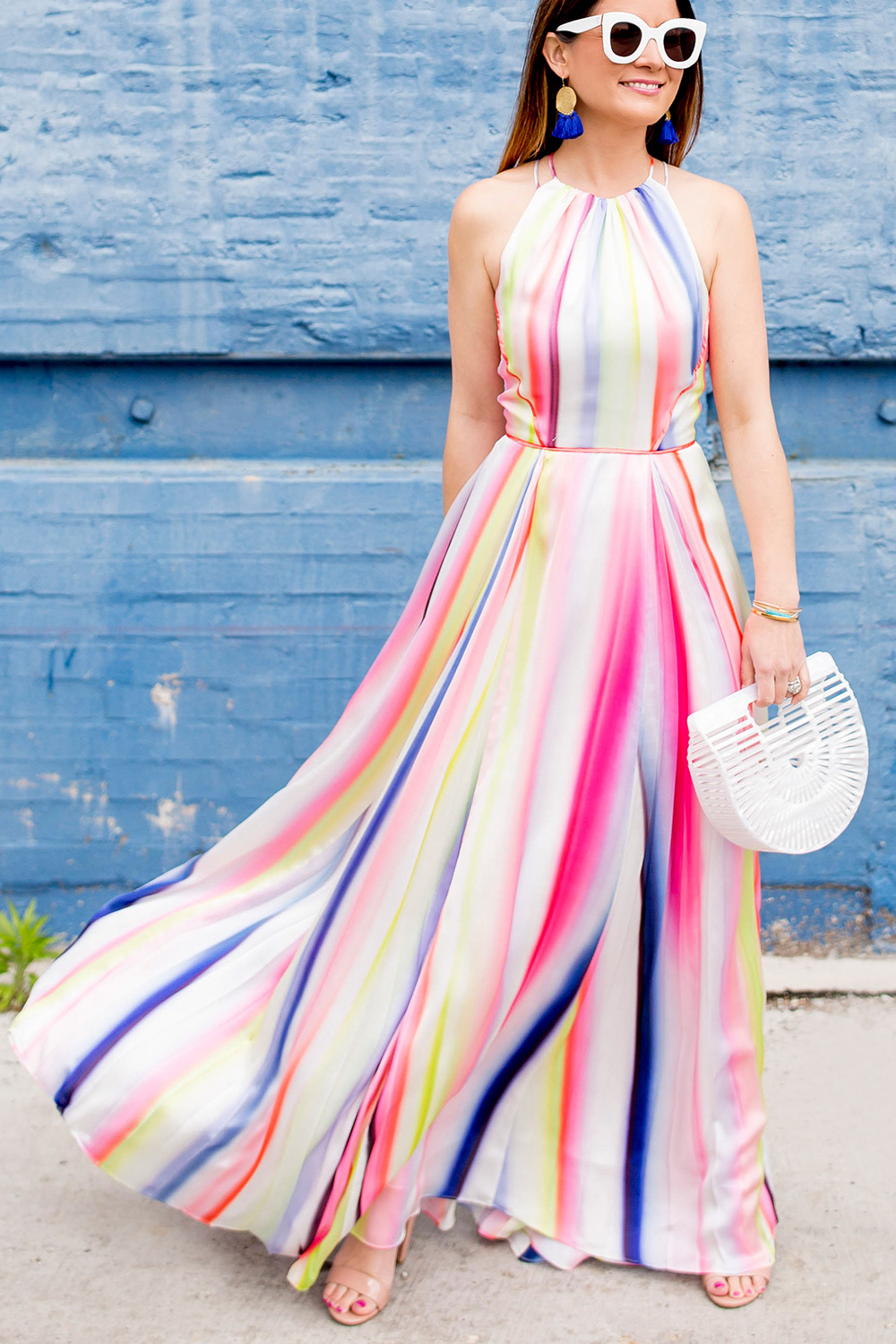 ASOS Multicolor Stripe Maxi Dress