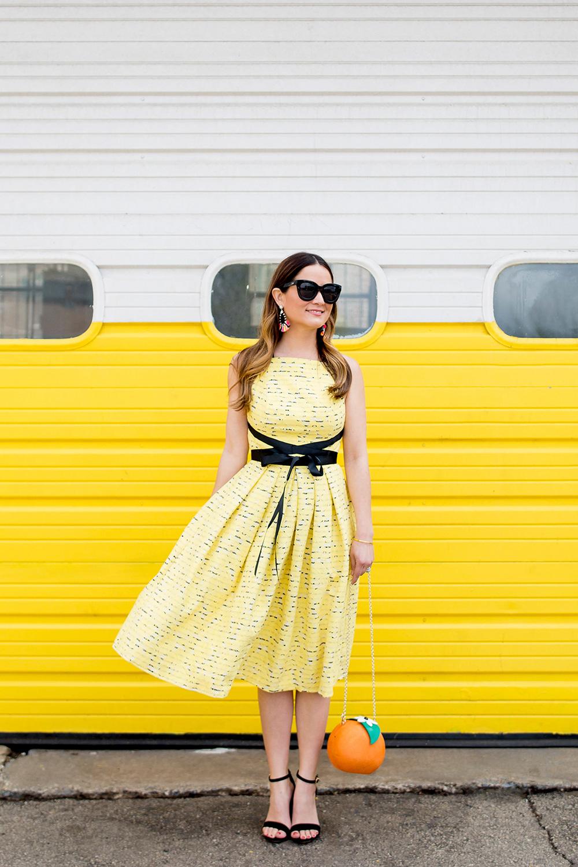 ASOS Yellow Lace Midi Dress